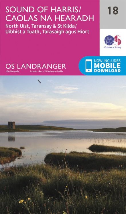 OS Landranger 18 Sound of Harris and North Uist